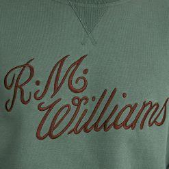 R.M Williams Script Crew Neck Jumper - Eucalypt