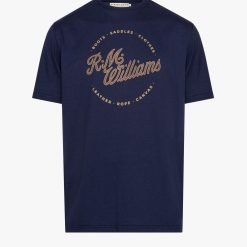 R.M Williams Script Stamp T-Shirt - Navy / Brown
