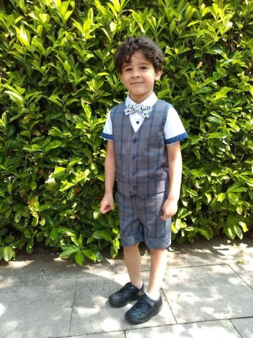 Little Lord & Lady Laurence Waistcoat - Grey Check