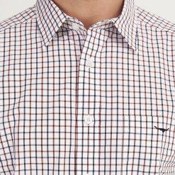R.M Williams Collins Button Down Shirt - White / Blue / Rust