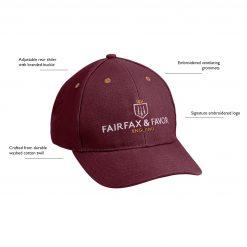 Fairfax & Favor The Signature Hat - Burgundy