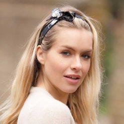 Clare Haggas Hold Your Horses Headband - Black