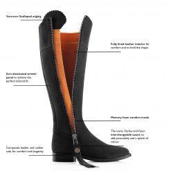 Fairfax & Favor The Regina Suede Boot - Black