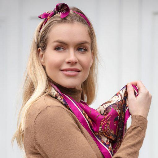 Clare Haggas Game Bird Headband - Magenta