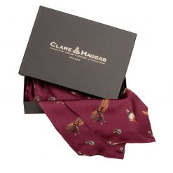 Clare Haggas Here Come The Girls Silk Cravat - Mulberry