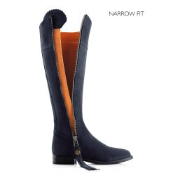 Fairfax & Favor The Regina Suede Boot Narrow Fit - Navy