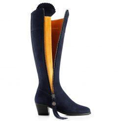 Fairfax & Favor The Heeled Regina Suede Boot - Navy
