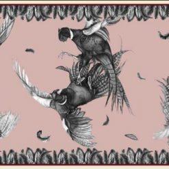 Clare Haggas Turf War Monochrome Classic Silk Scarf - Blush Pink