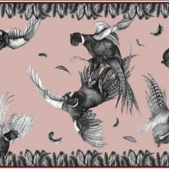 Clare Haggas Turf War Monochrome Narrow Silk Scarf - Blush Pink