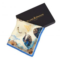 Clare Haggas We Three Kings Classic Silk Scarf - Cream