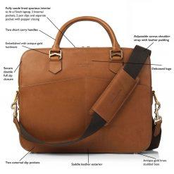 Fairfax & Favor The Westminster Laptop Bag - Tan Leather