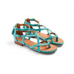 Fairfax & Favor The Brancaster Sandal - Turquoise