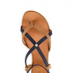 Fairfax & Favor The Brancaster Sandal - Tan / Navy