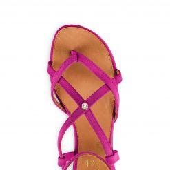 Fairfax & Favor The Brancaster Sandal - Fuchsia