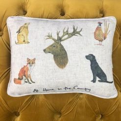 At Home In The Country Cushion - Country Animals