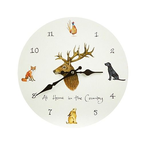 At Home In The Country Wall Clock - Country Animals