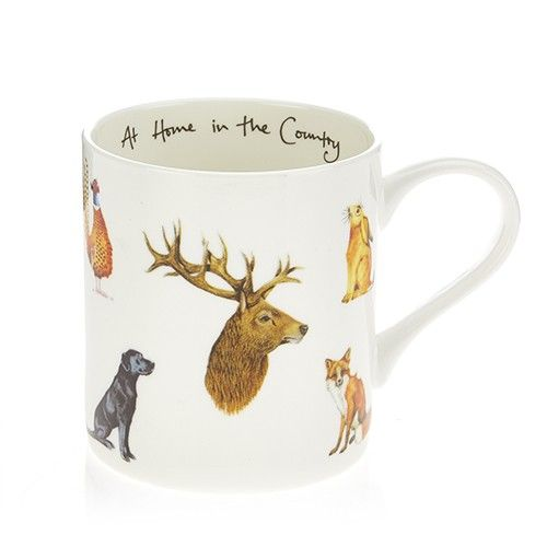 At Home In The Country Fine Bone China Mug - Country Animals