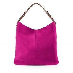 Fairfax & Favor Tetbury Suede/Leather Handbag - Fuchsia