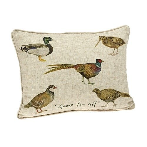 At Home In The Country Cushion - Game For All