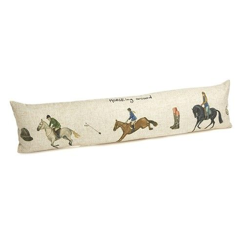 At Home In The Country Draught Excluder - Horsing Around