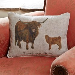 At Home In The Country Cushion - I Want To Be Like You