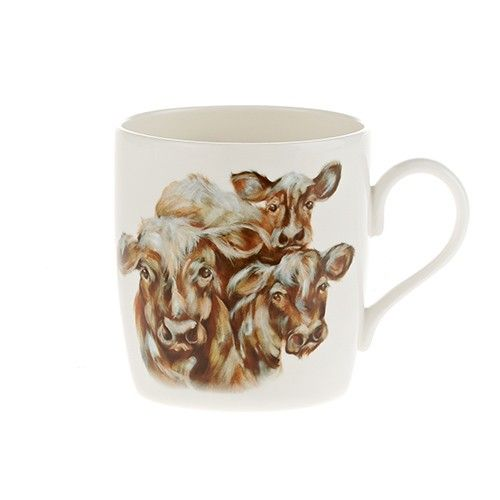 "At Home In The Country Fine Bone China Mug - Milkmaids ""Three Cows"""
