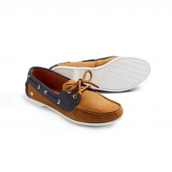 The Salcombe Deck Shoe - Tan & Navy