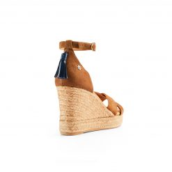 The Valencia Wedge Sandal - Tan