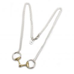 Hiho Sterling Silver & 18ct Gold Plated Double Chained Snaffle Necklace