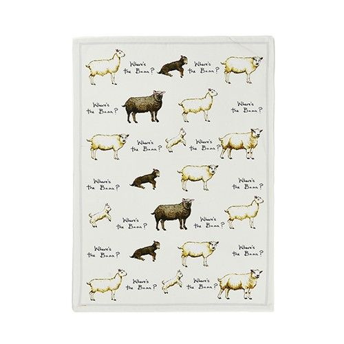 At Home In The Country Tea Towel -  Where's the Baaa?