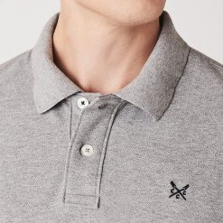 Classic Pique Polo Shirt - Grey Marl