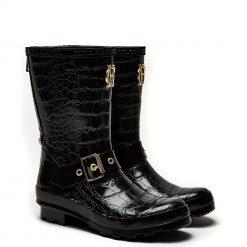 Short Zip Chelsea Wellington - Black Croc
