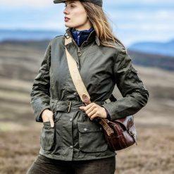 Cheltenham Ladies Wax Jacket - Olive