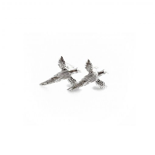 Exclusive Sterling Silver Pheasant Studs