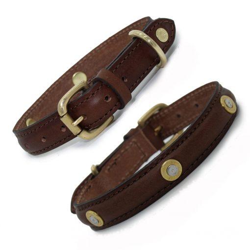 Stanway Multi Field Dog Collar - Brown