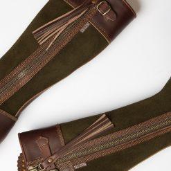 Inclement Tassel Boot - Seaweed / Conker