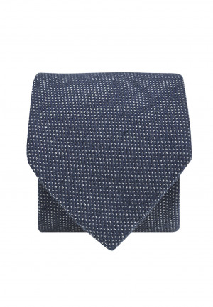 Micro Dot Tie - Navy